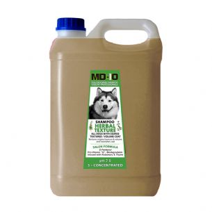 MD10 Herbal Texture Shampoo 5 Litre (20 Litre diluted) Malamute Samoyed Chow Chow Pomeranian Bearded Collie Terrier Coarse Coat German Shepherd Spitz